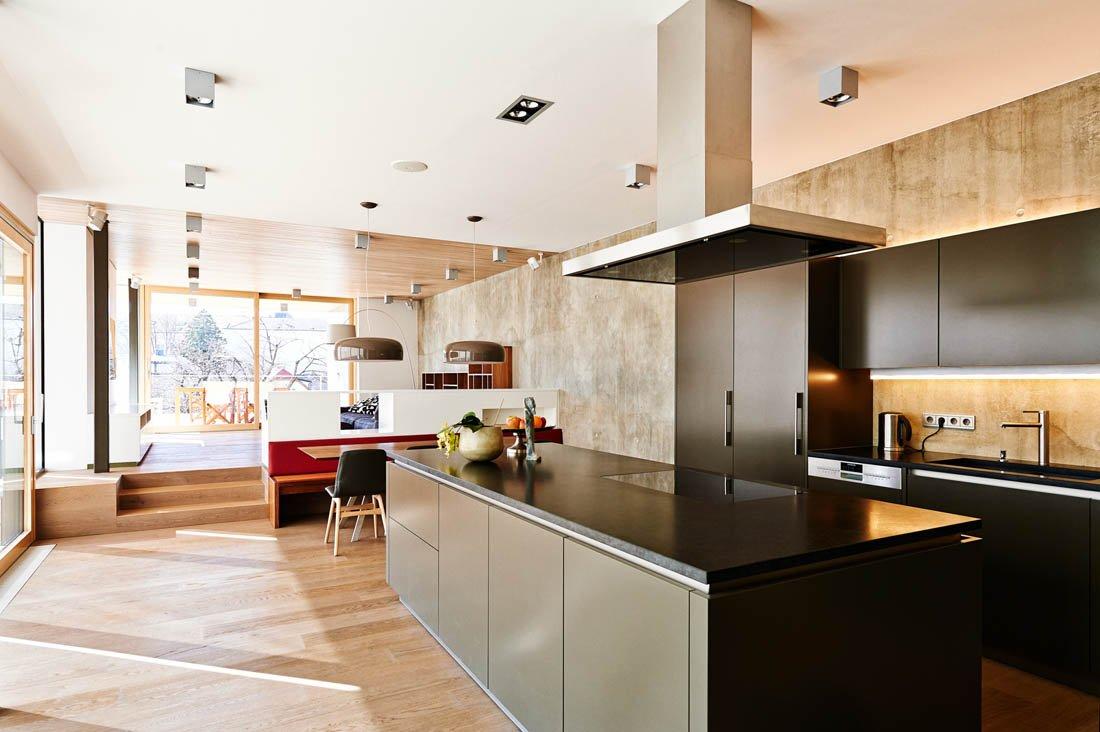 Modernes Wohnzimmer Mit Essbereich